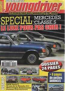 YOUNGDRIVER 12 DOSSIER MERCEDES CLASSE S MINI COOPER RENAULT 8 S BMW E21 E30 E36