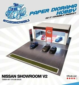 1:64 scale Car Showrooms & Dealerships - Diorama Building Kits for Hot Wheels