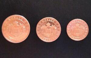 MONNAIE EURO MONACO le trio 1/2/5 cent 2001 UNC issue  STARTER KIT. refA312