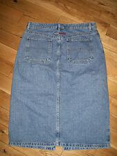 Womens Tommy Hilfiger Denim Jeans Skirt Logo Flag Locker Loop Painter Skirt 12