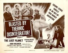 Lost Planet 1953 Chapter 4 Lobby Card Set VFNM Blasted by the Thermic Disintegra