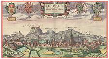 Lviv Lviv Oblast Galicia Ukraine bird's-eye view map Braun Hogenberg ca.1617