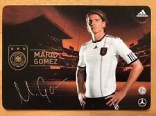 Mario Gomez 2. AK DFB 2010 Autogrammkarte original signiert
