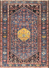 """4'7"""" x 6'5"""" Magnificent Antique Malayer Rug, Tribal,#17034"""