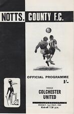 NOTTS COUNTY v COLCHESTER UNITED ~ 2 MAY 1968 ~  FOOTBALL PROGRAMME