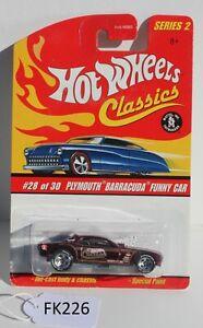 Hot wheels Classics Series 2 Plymouth Barracuda Funny Car #28 FNQHotwheels FK226