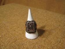 """███► età anello con sigillo """"BU""""/900er Argento & Oro 333er -- 1900 per"""