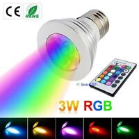 Energy saving E27 RGB LJS Bulb Lamp light 16 Color changing + 24Key IR Remote JS