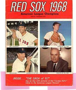 1968 Boston Red Sox Yearbook Ex Carl Yastrzemski / Tony Conigliaro/1967 Red Sox