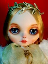 Ooak Custom Neo Blythe Angel Doll With Wings