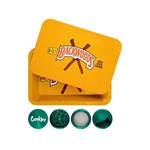 Rolling Tray Backwoods With Magnetic Lid Bundle + Cookies Grinder Starter Kit