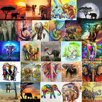 Elephant  Animal 5D DIY Full Drill Diamond Painting Cross Stitch Embroidery Kits