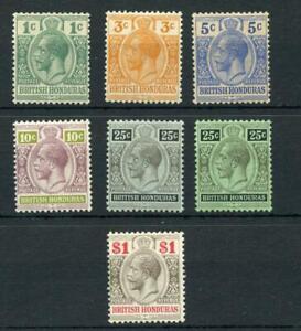 British Honduras 1913-21 values to $1 MM cat £68