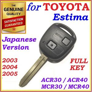 FOR TOYOTA ESTIMA REMOTE KEY JAPANESE VERSION ACR30 MCR30 TWO BUTTONS