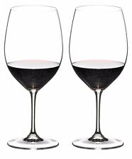 Riedel Crystal Cabernet Sauvignon Merlot Two Red Wine Glasses 9.75 inches Tall