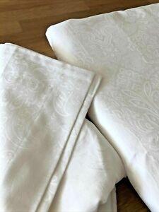 IKEA DVARGRUTA Duvet Cover Set WHITE PAISLEY LACE 600 TC TWIN QUEEN KING FREESH
