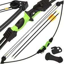 Compound Child Archery Bow and Arrow 12lb Quiver & Finger Tab Left / Right Hand