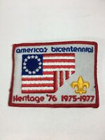 "Vintage Cub Scout Webelos Patch American Bicentennial Flag 4"" X 3"""