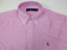 Polo Ralph Lauren LS Gingham Plaid Poplin Cotton Shirt $89.50 - $98 3 Colors NWT