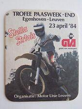 Beer Coaster: STELLA ARTOIS Bier ~ 1984 Motorcross Motorcycle Egenhoven - Leuven