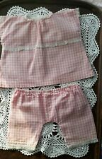 Vintage Baby Doll Dress Clothes Pink Gingham & Bloomers for Cabbage Patch Doll