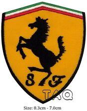 Ferrari logo racing biker car embroidered iron on patch badge motor # M04