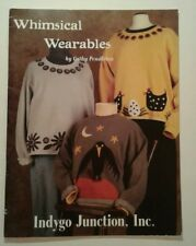 Whimsical Wearables Indygo Junction 2003 Folk Art Chickens Cats Snowman Crow