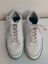 New listing LACOSTE COURT MASTER TRAINERS TENNIS SHOES SIZE 4 WHITE GREEN GREAT CONDITION
