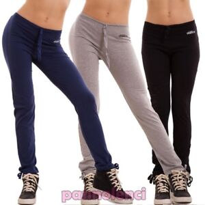 Pantaloni donna tuta yoga danza slim sport fitness palestra cotone nuovi QC-2