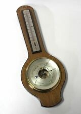 RAIN FAIR Vintage Wall Hanging Barometer With Thermometer Made In England