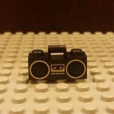 Lego NEW BLACK RADIO -Boy/Girl Minifigure Music Boombox w/Gold Trim RARE