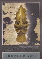 "Game of Thrones Season 3 - ""Greyjoy"" Embossed Map Marker Sigil Chase Card MM3"