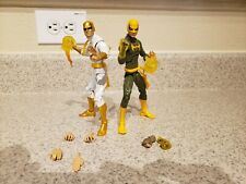 Marvel Legends Iron Fist 2 Figure Lot with accessories. Hasbro action figure toy