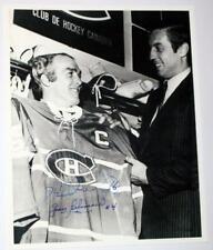 Jean Beliveau Henri Richard Dual Signed Montreal Canadiens Photo Captains Jersey