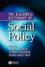 Blackwell Dictionary of Social Policy, By Alcock, Alcock,in Used but Acceptable