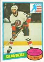 1980-81 Topps Hockey #9 Ken Morrow New York Islanders Rookie 1980 Olympic Team