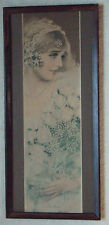 "PRETTY FRAMED 1927 POMPEIAN ADVERTISING PRINT / YARD LONG TITLED ""THE BRIDE"""