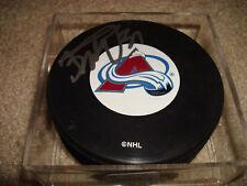Peter Budaj Signed Autographed Hockey Puck Colorado Avalanche AVS b