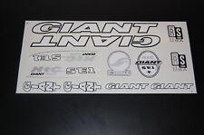 Giant XTC SE1 Stickers  White, Black & Silver.