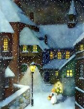 Christmas Eve In The Village~counted cross stitch pattern #1673~Holidays Chart