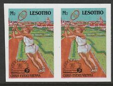 Lesotho (871) 1988 TENNIS Federation 2m IMPERF PAIR unmounted mint