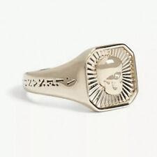 ALEXANDER MCQUEEN RING Skull Motif Signet Ring Size 21