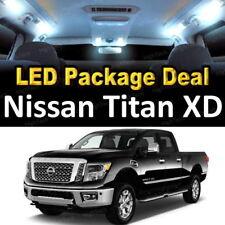 FOR 2016 2017 2018 Nissan Titan XD LED Lights Interior Package Kit WHITE 5PCS