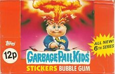 1985 TOPPS UK IRELAND GARBAGE PAIL KIDS SERIES 6 EMPTY SHOP COUNTER  DISPLAY BOX