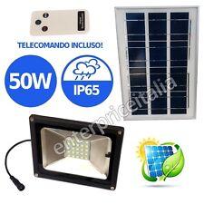 FARO FARETTO SOLARE LED SMD PANNELLO LUCE LAMPADA IP65 50W 6000K GIARDINO STAGNA