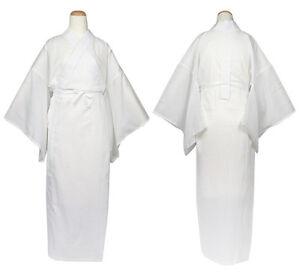Japanisch Damen Traditionell Kimono Unter Kleidung Langärmelig Juban Weiß Japan