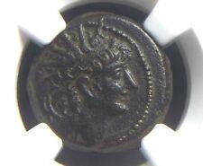 Greek coin AE21 of King Alexander II 128-122 BC,Seleucid Kingdom NGC XF 2015