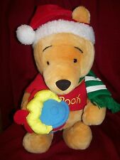Disney's Winnie the Pooh Christmas Santa Hat with Rattle Hunny Pot Plush 15""