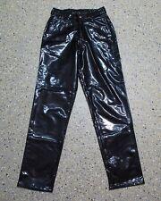 Lack Hose Grösse XS Damen schwarz D804
