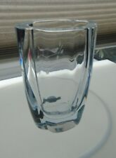 *Stromberg clear crystal etched vase.